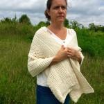 organic cotton yarn crochet pattern womens wrap