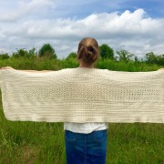 little monkeys designs shoulder wrap in organic cotton