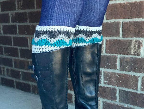 Alpine Boot Cuffs Crochet Pattern