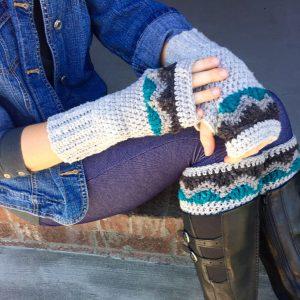 Alpine boot cuffs and fingerless gloves crochet pattern