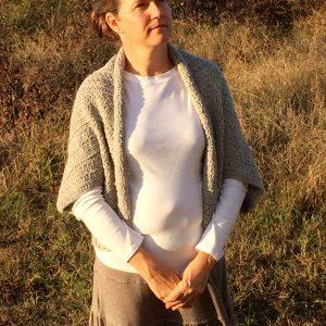 Angela's Shrug in grey merino wool