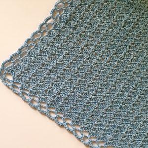 Baby Blue Baby Blanket crochet pattern by Little Monkeys Designs