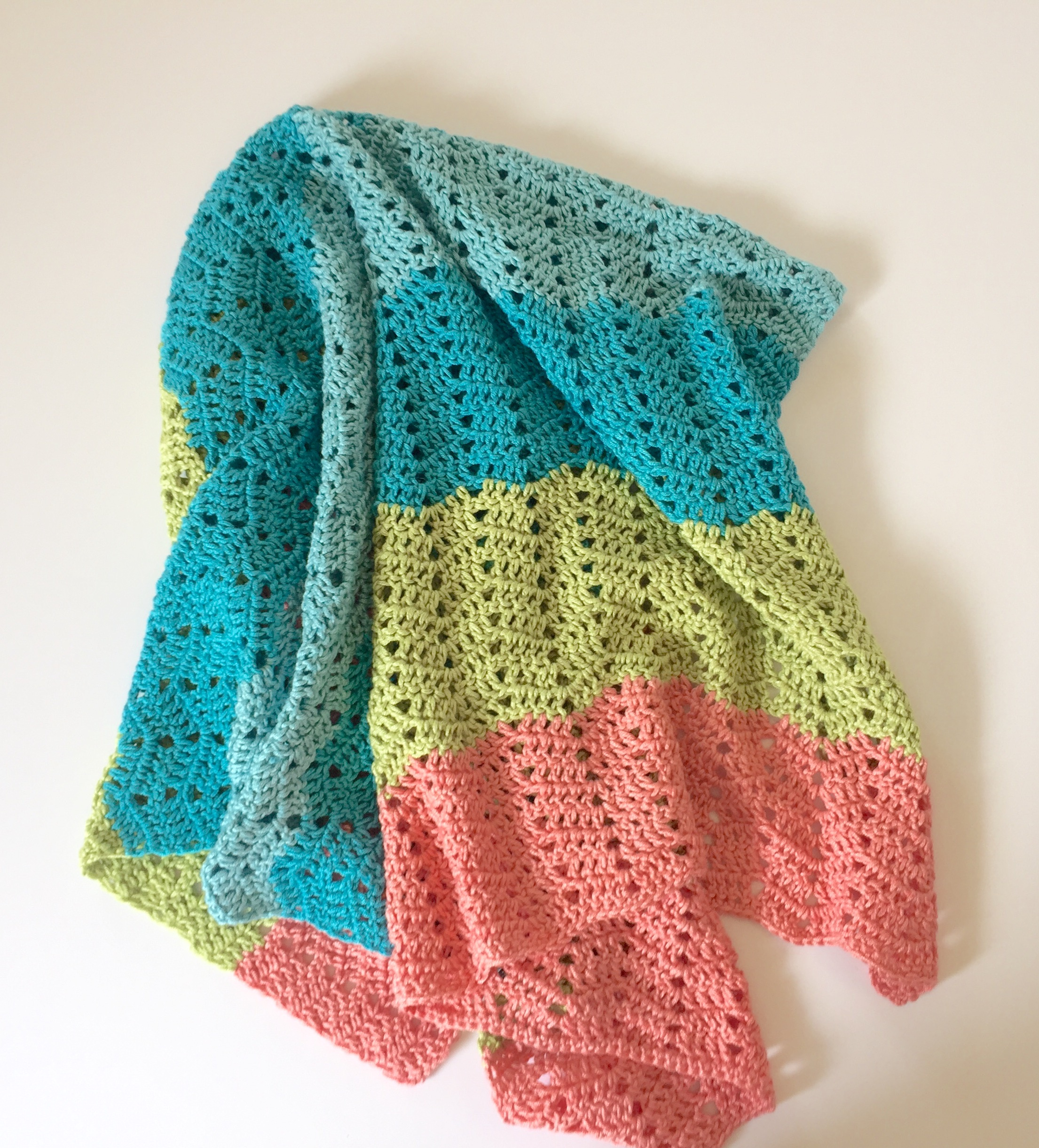Beach Baby Baby Blanket crochet pattern by little monkeys designs