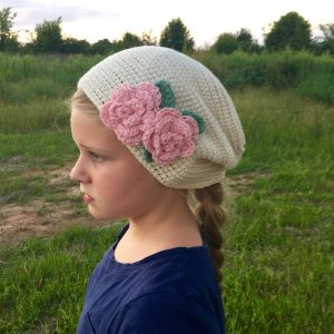 Bella's Hat crochet pattern by Little Monkeys Designs