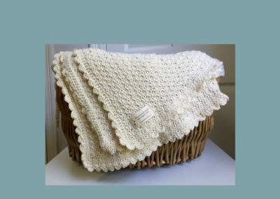 Pure and Simple Baby Blanket by Little Monkeys Design