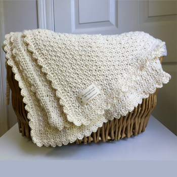 Pure and Simple Baby Blanket crochet pattern by Little Monkeys Designs