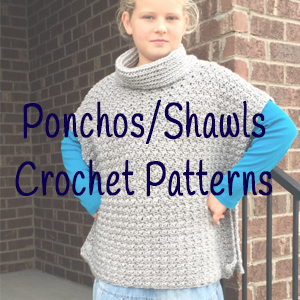 Ponchos/Shawls Crochet Patterns