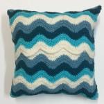 crochet pattern chevron pillow pattern little monkeys designs back view