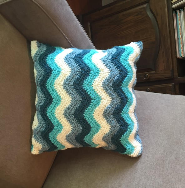 crochet pattern chevron pillow pattern little monkeys designs
