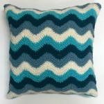 crochet pattern chevron pillow pattern little monkeys designs teal