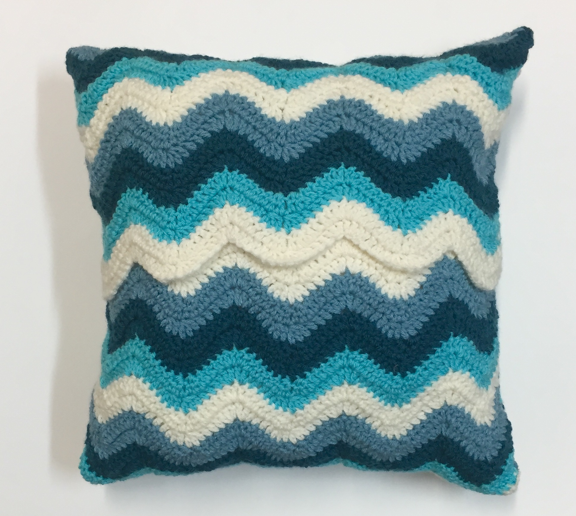 Crochet Patterns Chevron Pillow Cover