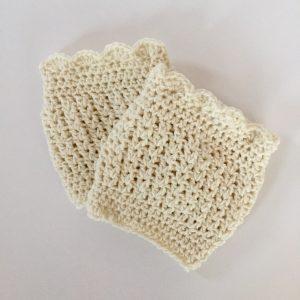 Hannah boot cuffs crochet pattern