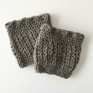 crochet boot cuffs in Hannah Design