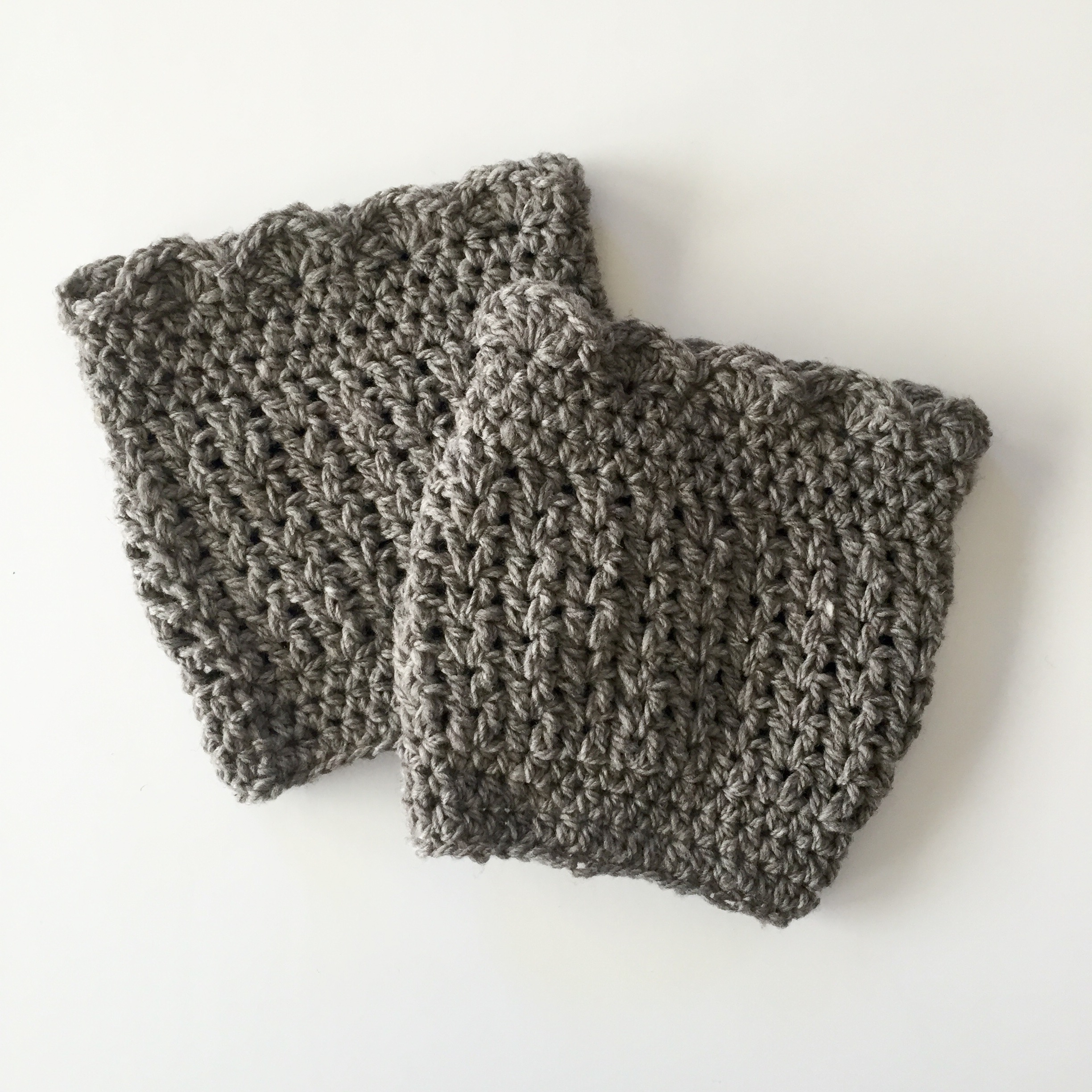 crochet boot cuffs in Hannah Design