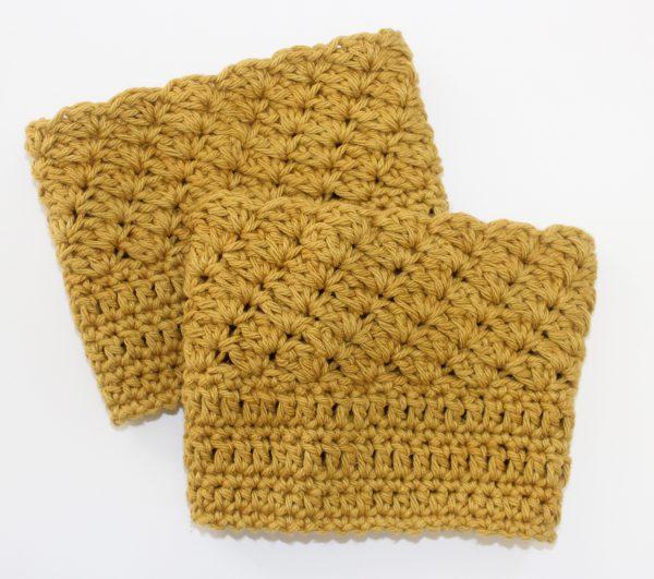 Bella's Boot Cuffs crochet pattern by Little Monkeys Designs