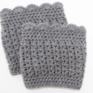 Hannah boot cuffs crochet pattern by Little Monkeys Designs