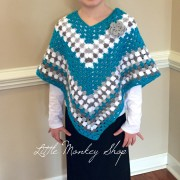 girl with crochet poncho