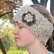 queens lace crochet pattern ear warmer by little monkeys designs