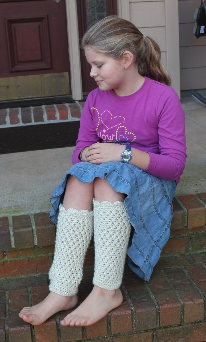 Scarlett Leg Warmers crochet pattern by Little Monkeys Designs