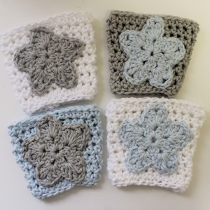crochet pattern coffee sleeve cozy star