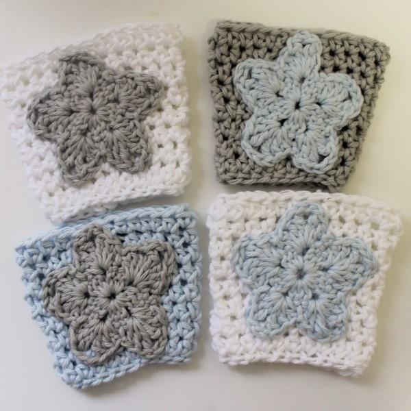 crochet pattern coffee sleeve cozy star