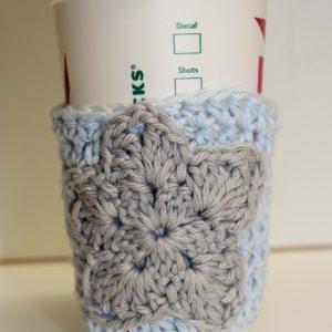 crochet pattern coffee sleeve cozy star christmas