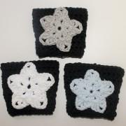 crochet pattern coffee sleeve cozy star black