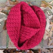 crochet pattern scarf women marian red wool blend