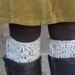 little monkeys designs boot cuffs crochet pattern three cables