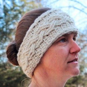 cable stitch crochet pattern ear wamer