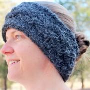 little monkeys designs crochet pattern ear warmer black cable
