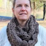 easy crochet pattern womens double shells infinity scarf little monkeys designs