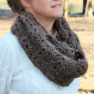 crochet pattern womens double shells infinity scarf little monkeys designs