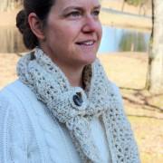 womens infinity scarf crochet pattern little monkeys designs with button