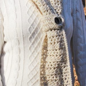 womens infinity scarf crochet pattern little monkeys designs with button clasp