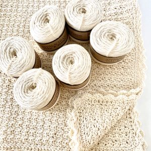 Pure and Simple Baby Blanket kit by Little Monkeys Designs - yarn and crochet pattern