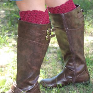 Bella's Boot Cuffs crochet pattern by Little Monkeys Designs