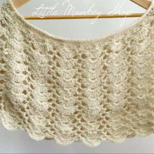 Lacy Scallops Shawl crochet pattern by Little Monkeys Designs - crochet shawl pattern