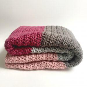 Modern Color Block Blanket crochet pattern by little monkeys designs