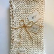 crochet pattern baby blanket organic cotton little monkeys design