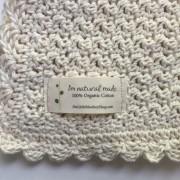 crochet pattern baby blanket organic cotton little monkeys design pure and simple