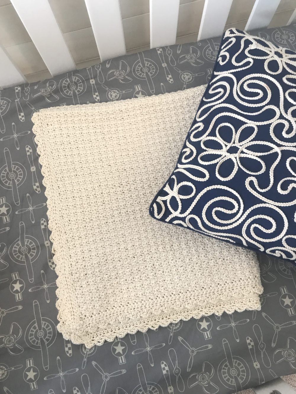 Baby Blanket Crochet Pattern By Little Monkeys Designs