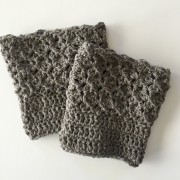 wool boot cuffs for women in a lacy pattern
