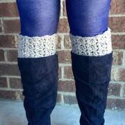 womens lacy boot cuffs crochet pattern