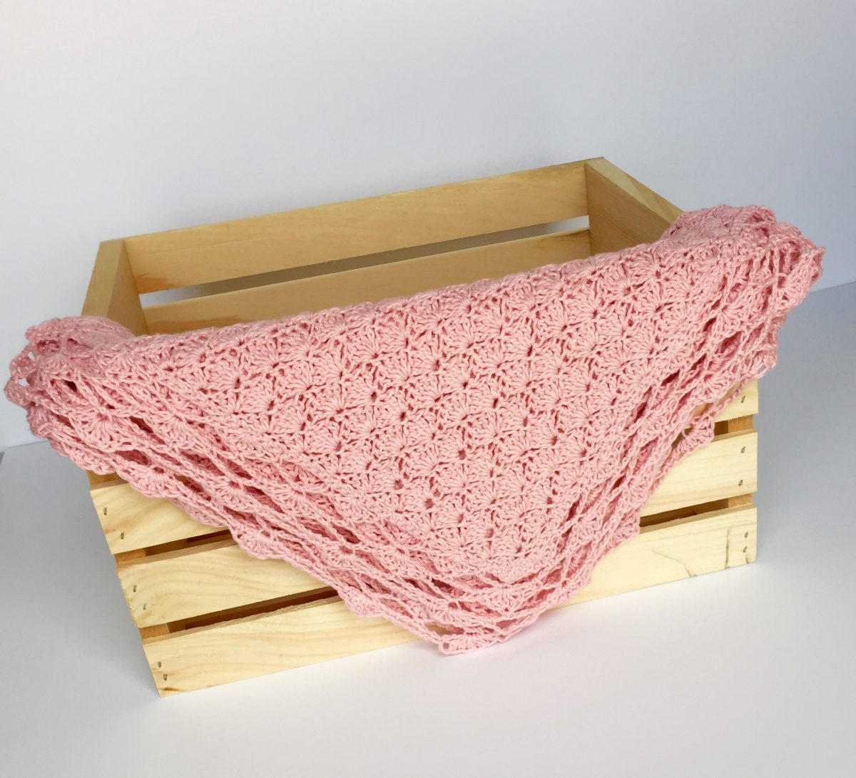 Shells Baby Blanket crochet pattern by little monkeys designs in crate