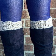 boot cuffs in shell design for girls and women