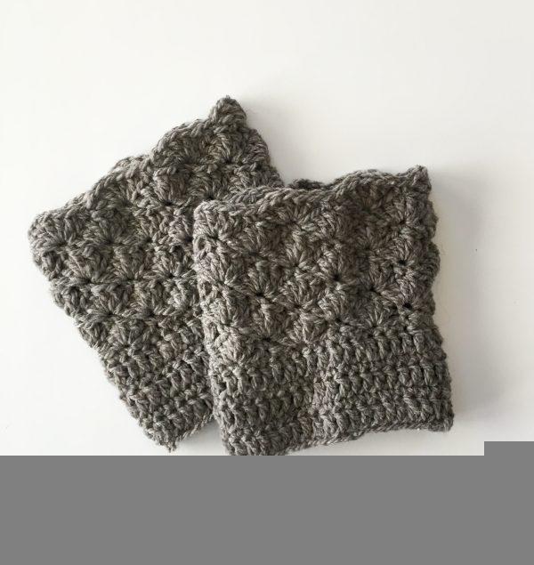 Shells Boot Cuffs in grey merino wool