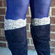 womens boot cuffs in shell pattern