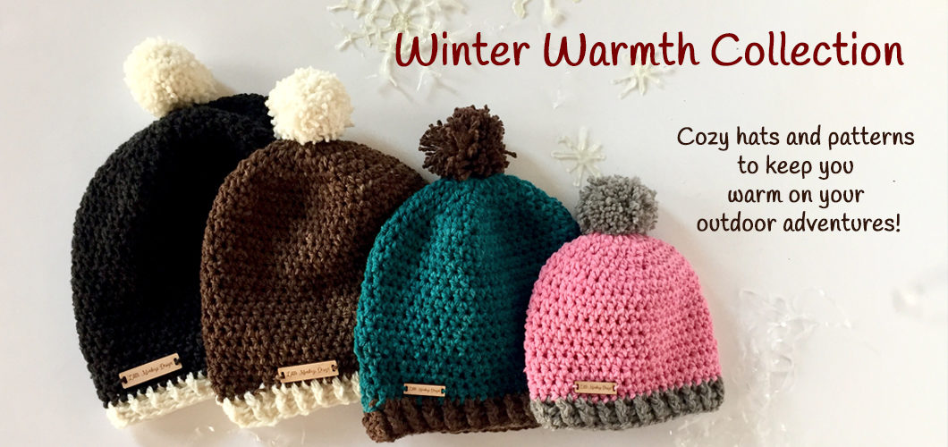 Winter Warmth Collection of crochet patterns by Little Monkeys Design.