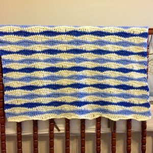 Benjamin baby blanket crochet pattern by Little Monkeys Designs